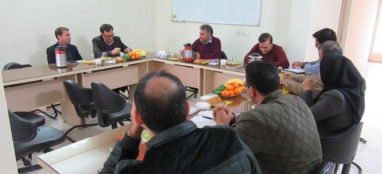 جلسه هم اندیشی هیئت مدیره انجمن مهندسی آب فارس با ریاست محترم سازمان نظام مهندسی کشاورزی و منابع طبیعی فارس