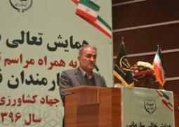 فارس رتبه نخست آبیاری تحت فشار در کشور
